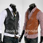 Купить_Мужской_жилет_Uyuk_modern_casual_all-match_male_PU_leather_slim_vest_for_men,_men__39;s_fashion_waistcoat_MM014_с_бесплатной