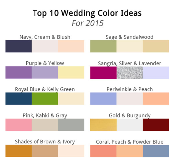 Fall 2015 Wedding Color Trends 2014-2015