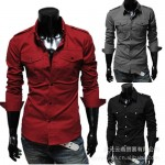 Fashion_double_pocket_men__39;s_casual_long-sleeved_shirts_на_продажу