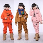 Купить_Комплект_одежды_для_девочек_children_sportwear_Kids_winter_wear_more_designs_colors_Hoodies+pant_Hot_sell_fur_plush_2pcs