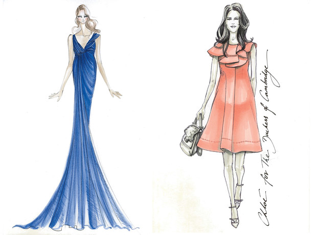 Fashion Design Sketches Of Dresses 2013