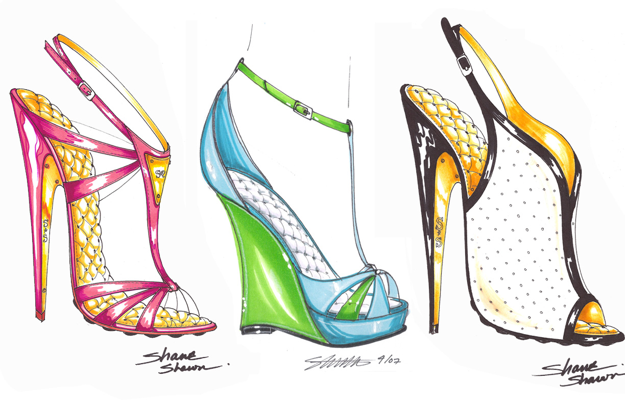 fashion design sketches shoes 20142015 fashion trends