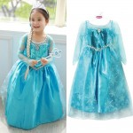 Halloween_Kids_Girls_Costume_Cosplay_Party_Princess_Frozen_Elsa_Anna_Fancy_Dress
