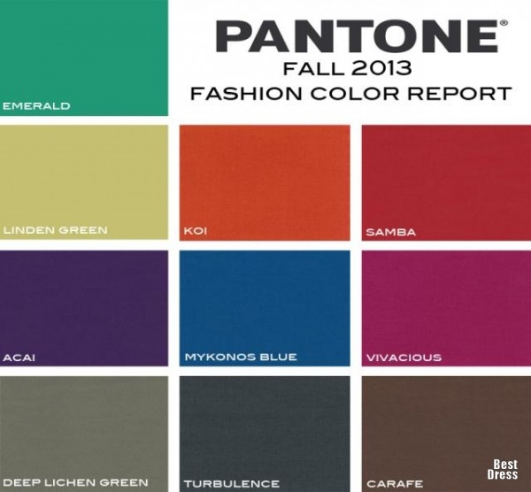 Fall Spring Color Trends Pantone Shopping Guide Are