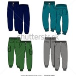 Stock_Images_similar_to_ID_242451805_-_men_cargo_pants_vector_template