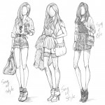 Изобр_по_Sketch_Fashion_Girl