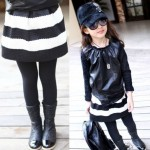 Купить_Юбка_для_девочек_2T-8y_children__39;s_skirt_black_white_strip_baby_girl_kids_fashion_skirts_for_girls_Autumn-Summer_princess