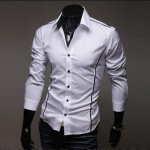 Мужская_белая_рубашка_New_Fashion_Mens_Luxury_Long_Sleeve_Casual_Slim_Fit_Stylish_Dress_Shirts_White_f_купить