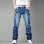 Мужские_джинсы_Men__39;s_Fashion_Classic_Slim_Fit_Straight_Premium_Washing_Jeans_купить