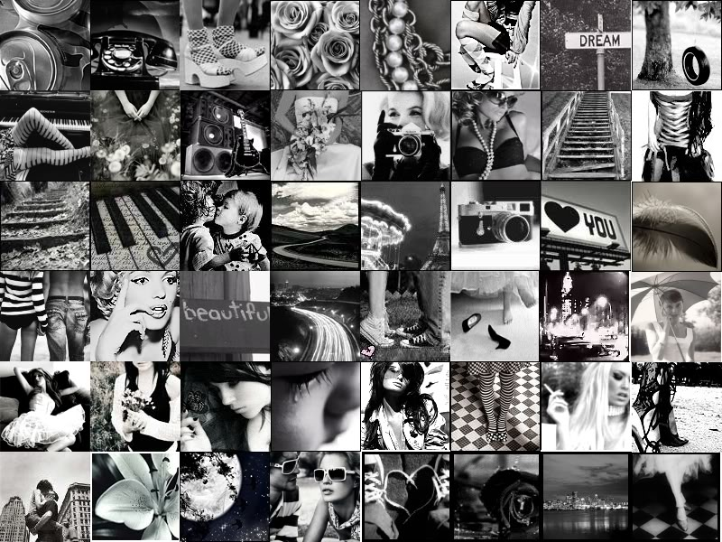 Fashion Collage Backgrounds Black And White Shopping