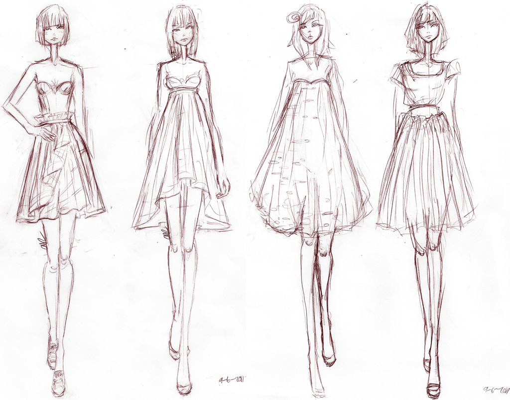 Sketch Of Latest Dress Designs For Women