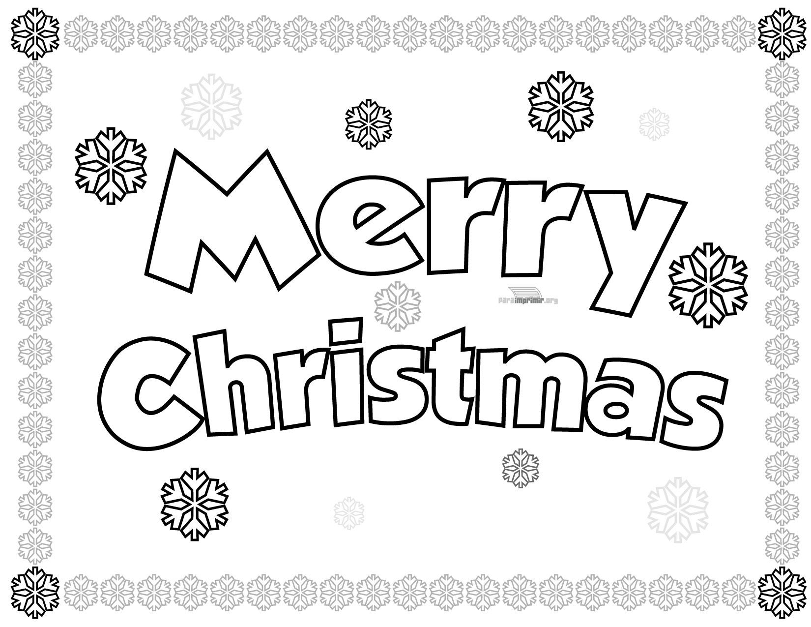Free merry christmas 1 coloring pages