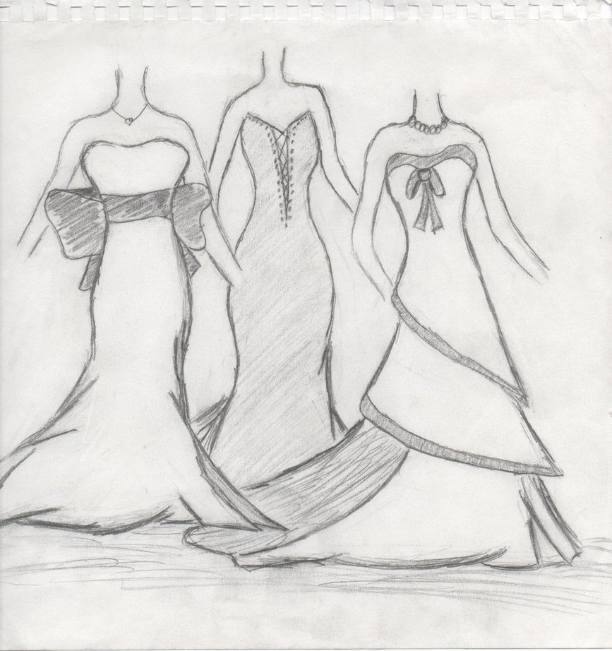 Simple Fashion Design Sketches Of Dresses 2015 2016