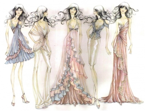Fashion Design Sketches Of Dresses 2016 2017 Fashion Trends 2016 2017