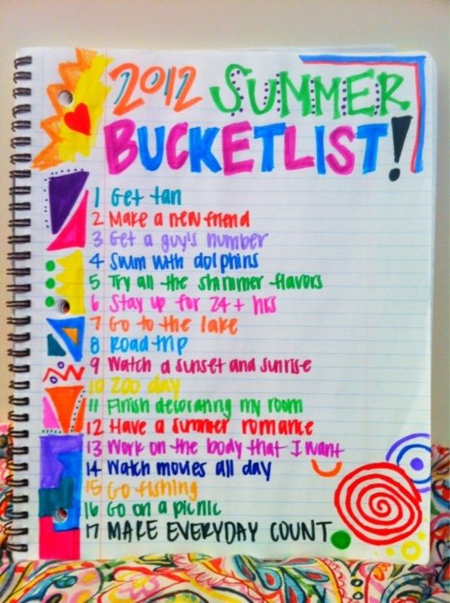 picture relating to Tumblr Bucket Lists identified as Summer time Photograph Tumblr Bucket Checklist overview Procuring Direct. We