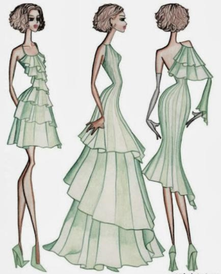 fashion design sketches of dresses 2016