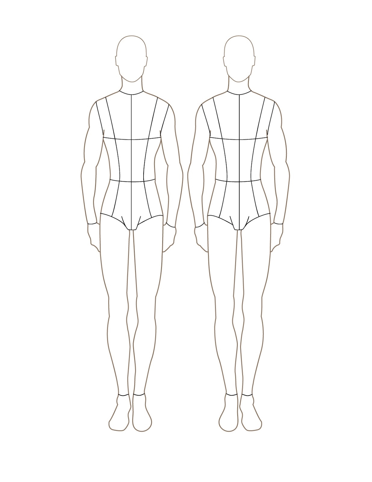 fashion design sketch model male