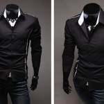 Fashion_Slim_Fit_Stylish_Mens_Casual_Long_Sleeve_Shirts_Cotton_Blend_Mature_New_eBay