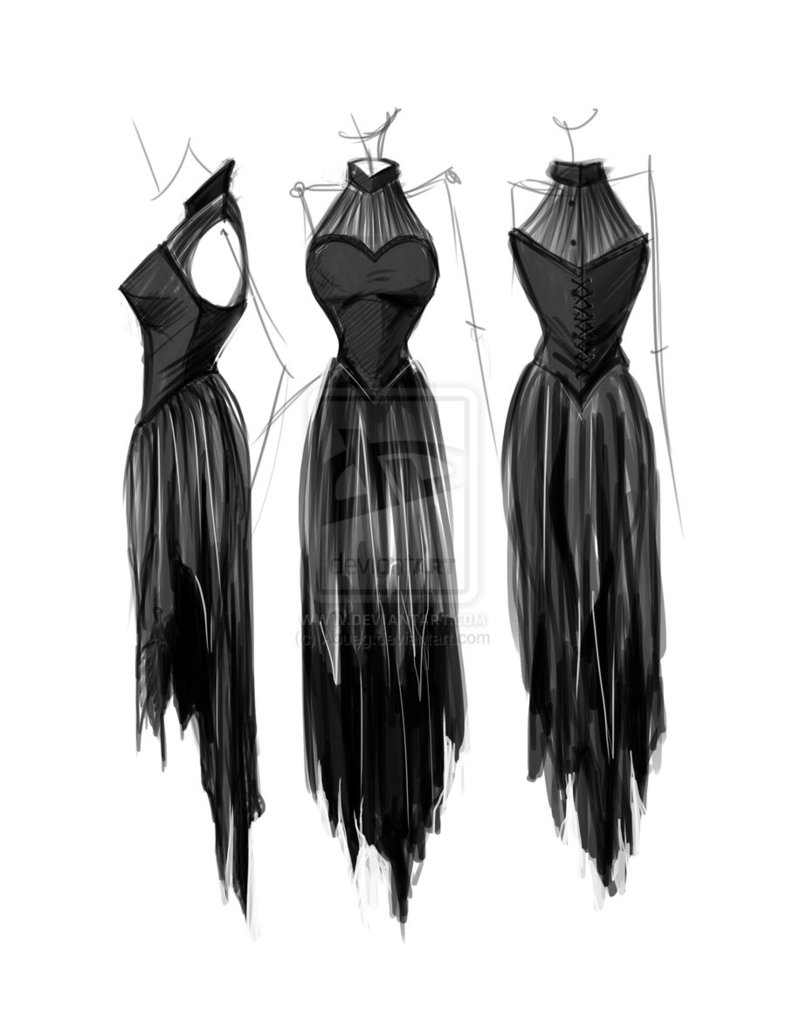 dress prom sketches dresses designs deviantart abueg sketch clothes designers fashiondesign cute guide portfolio