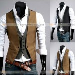 Men__39;s_Casual_Fashion_V-neck_Double_Layered_Fit_Vest_Waistcoat_Slim_Jacket_Tops_(191257414213)___Жилеты___Мужская_одежда___Одежда