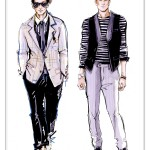 Men_clothing_Sketch_Pen_and_Ink_with_digital_flat_water_coloring._._Quickly_sketched_and_rendered.__._Мода___fashion___Pi