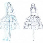 Simple_Fashion_Design_Sketches_Of_Dresses_WeddingInvitations.biz