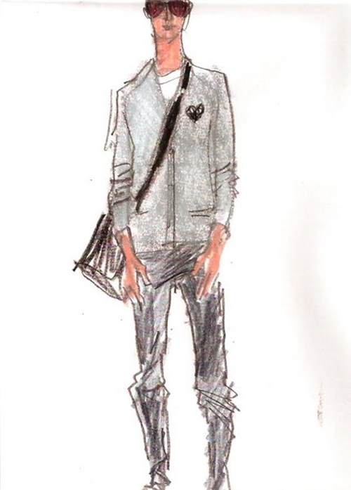 the gallery for gt clothes design sketches men