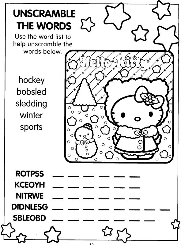 coloring pages hello kitty summer clothes | Awesome Hello Kitty Merry Christmas Coloring Pages ...