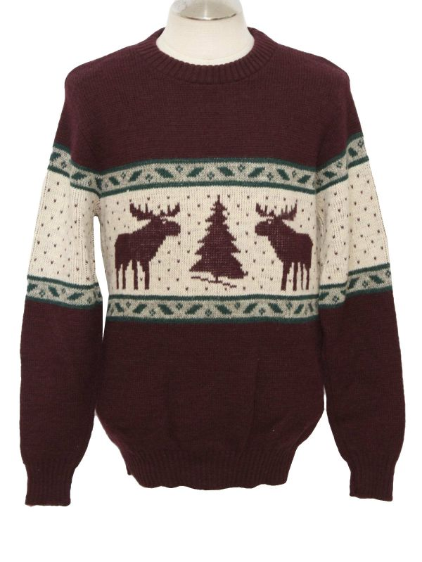 Awesome Moose Pattern Christmas Sweater 2014-2015 Fashion Trends 2016-2017