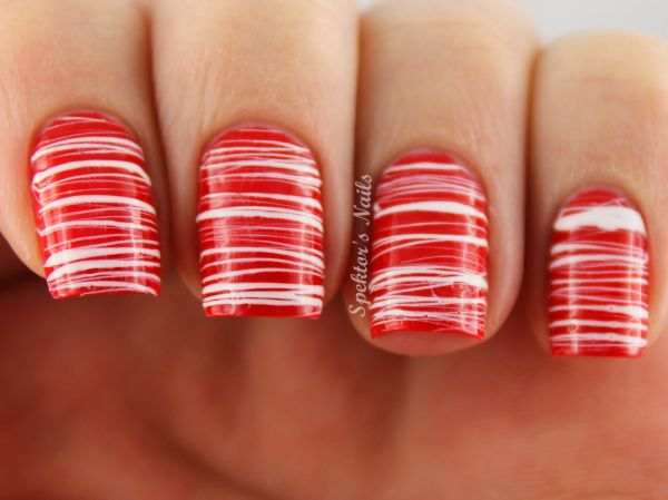 Candy cane nails- looking long