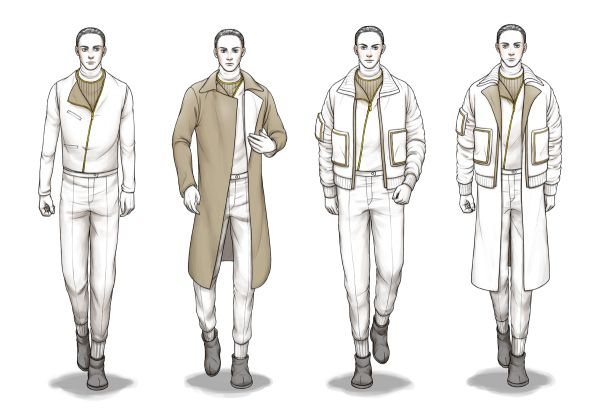 Men Fashion Designer Sketches Fashion Draft Sketches