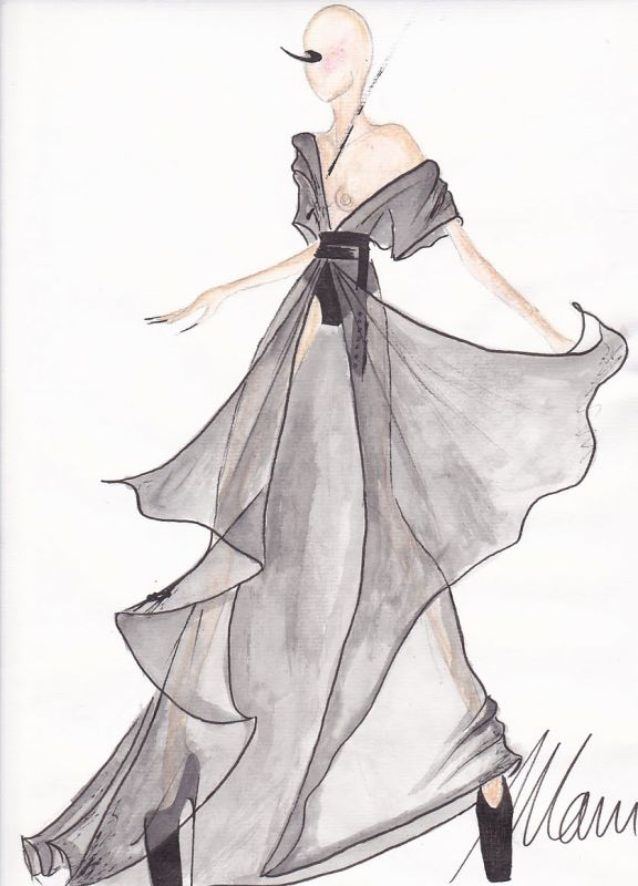 fashion design sketches of dresses foto 20142015