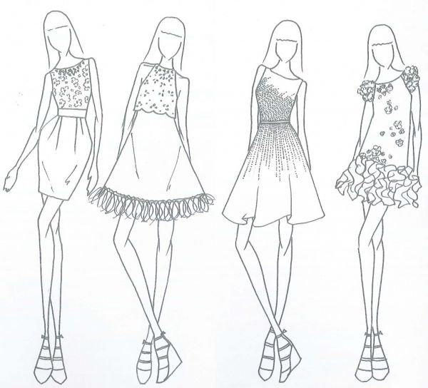 Free Coloring Pages Of Fashion Design Models