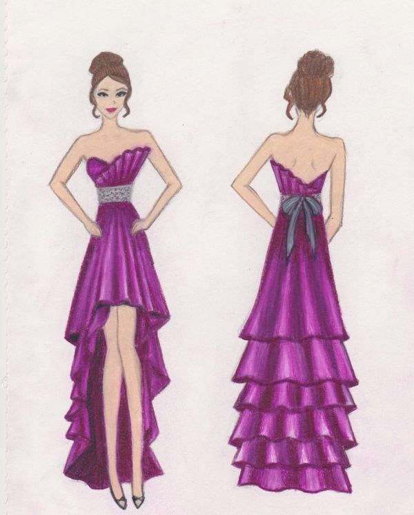 Design Dress Drawings Sketch Your Prom Decorate Call