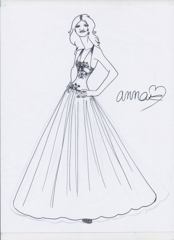 Fashion Design Sketches Of Dresses For Kids