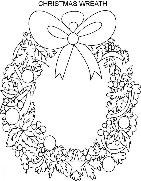 Superb christmas wreath coloring page 2014 2015 fashion for Christmas coloring pages wreaths