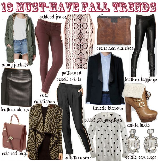 Fall fashion trends 2014 for teens