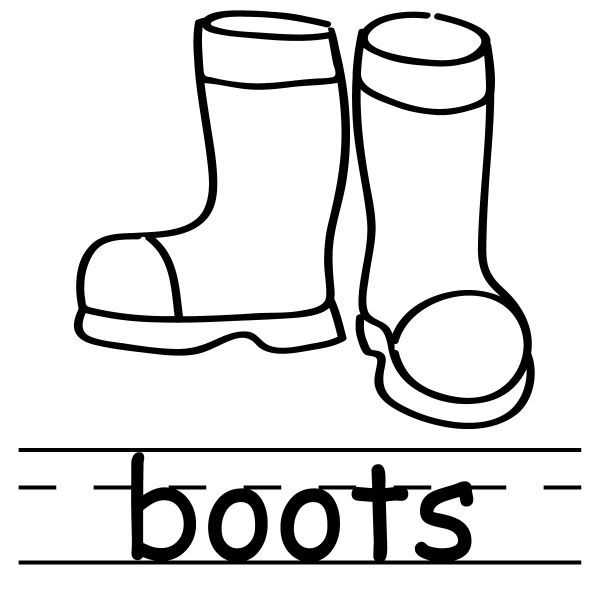 Historical Clipart of Drizzle Boots — Coal-black and Snowy Plan out ...