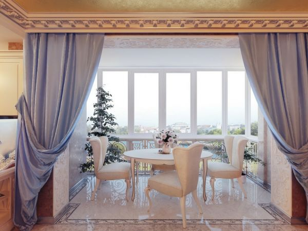 Curtain designs for dining rooms fashion trends 2016 2017 for Dining room curtain ideas