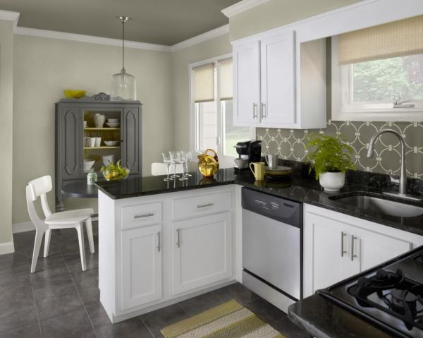 Kitchen black white tile 20152016  Fashion Trends 20152016
