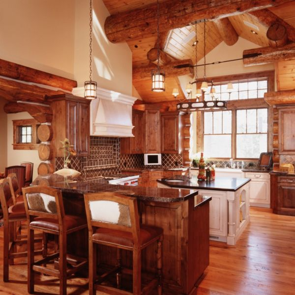 Log cabin kitchen decor 2016 fashion trends 2016 2017 Cabin kitchen decor