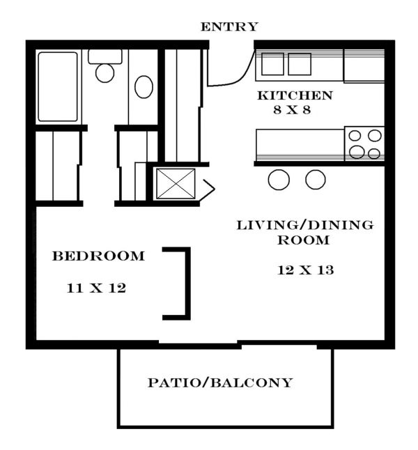 Small apartment floor plans fashion trends 2016 2017 Efficiency apartment floor plan