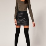 Женская_юбка_Asos_Leather_Stripe_Mini_Skirt_в_интернет-магазине_Drez.ru
