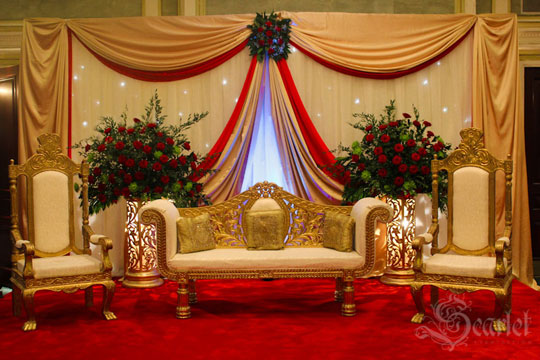 Best indian wedding decorations fashion trends 2016 2017 for Asian wedding stage decoration london