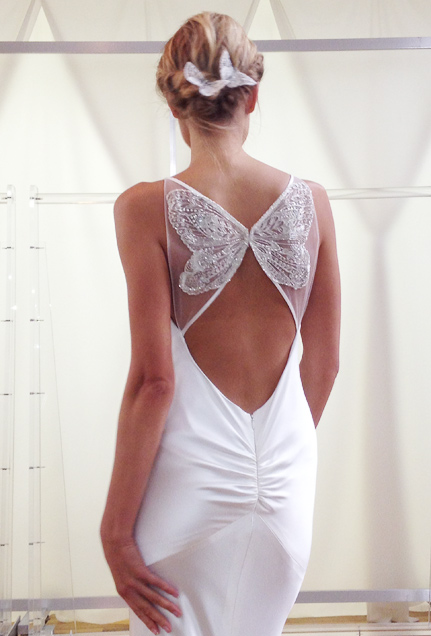 Modest wedding dresses lds 2014 2015 fashion trends 2016 for Butterfly back wedding dress