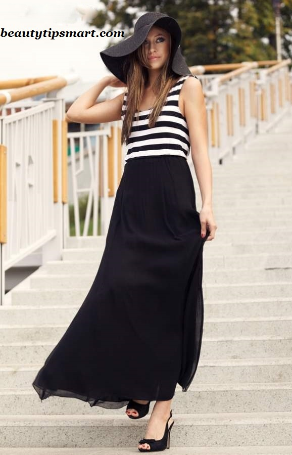 Long Black Skirt Casual Outfits 2014 2015 Fashion Trends
