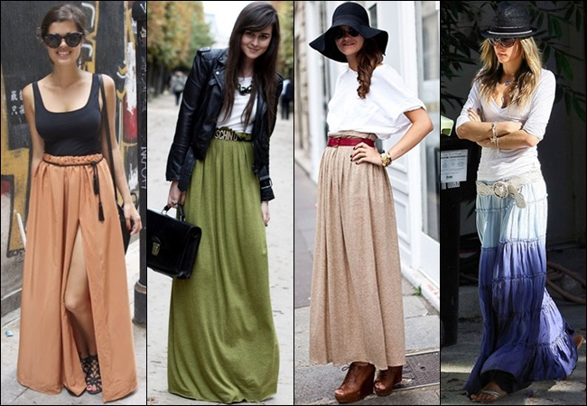 Pleated Maxi Skirt Outfit 2014-2015
