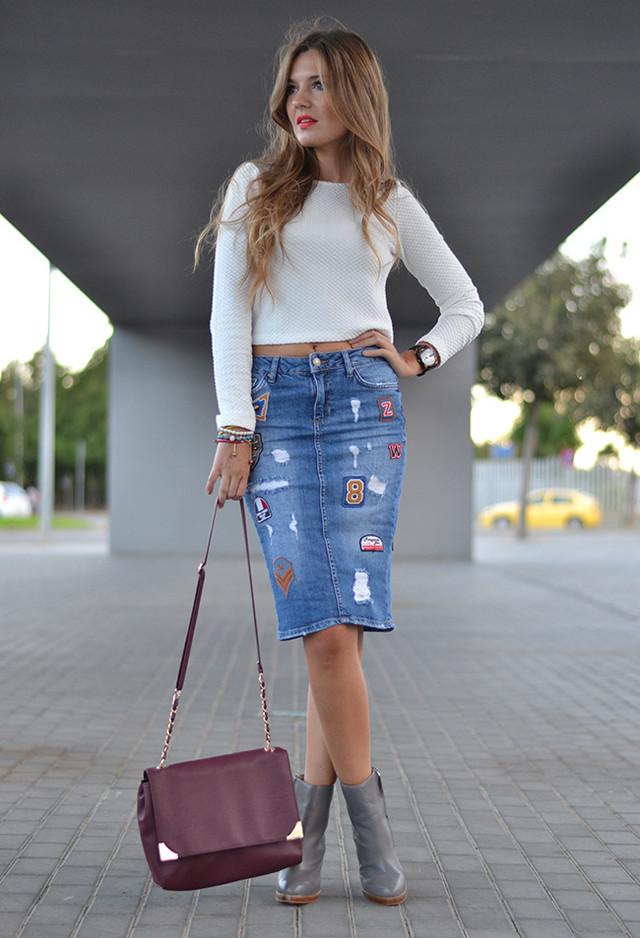 denim pencil skirt zara 2014 2015 fashion trends 2016 2017