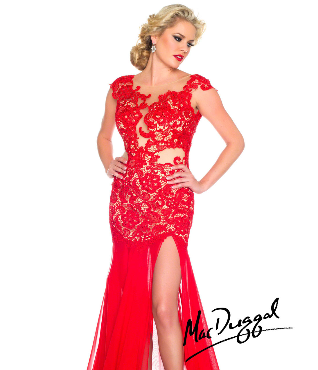Maid Of Honor Dresses Red 2014-2015