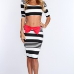 Black_Red_Bow_Accent_Crop_Top_Pencil_Skirt_Outfit